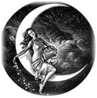 девушка на луне