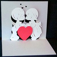 Мир Любви и Романтики:объемная валентинка
